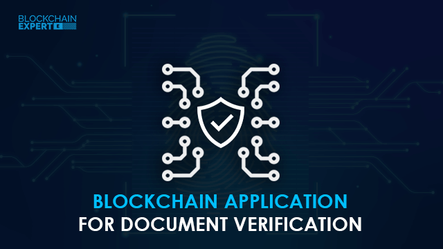 Blockchain Application for Document Verification